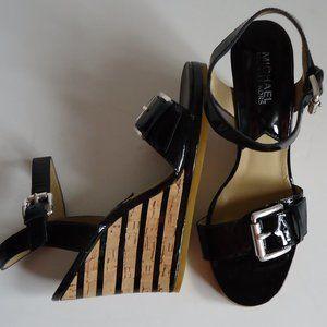SIZE 7.5.MICHAEL KORS cork wedge sandals